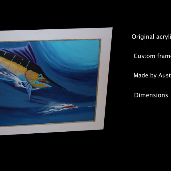 Original Marlin Painting ( 3' X 4' )