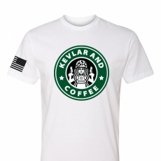 Kevlar and Coffee - Adult Mens T-Shirt