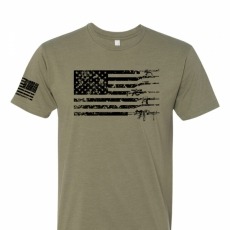 American Flag Gun Shirt - Adult Mens Shirt