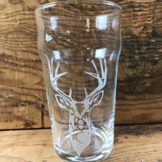 20oz. Custom Pub Glass // Deer Head