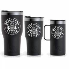 Kevlar and Coffee - Outlines - Tumbler