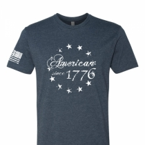 American Since 1776 - Betsy Ross Flag - Adult Mens T-Shirt